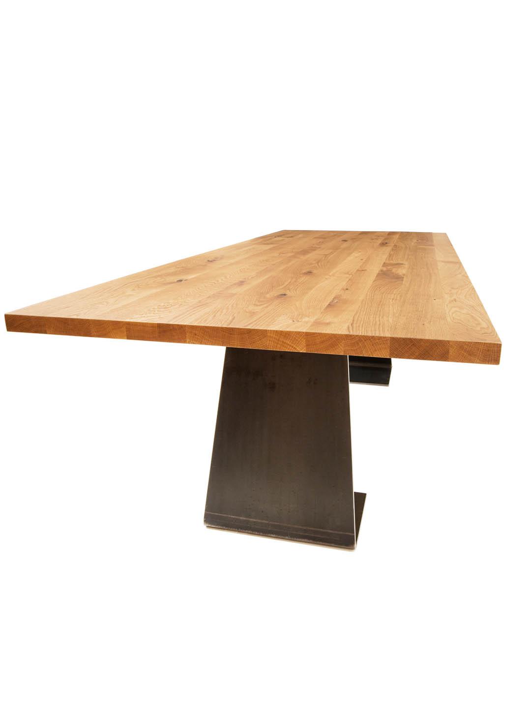Zsteel Design Esstisch Massivholz Stahl | Esstisch Eiche Stahl | MBzwo