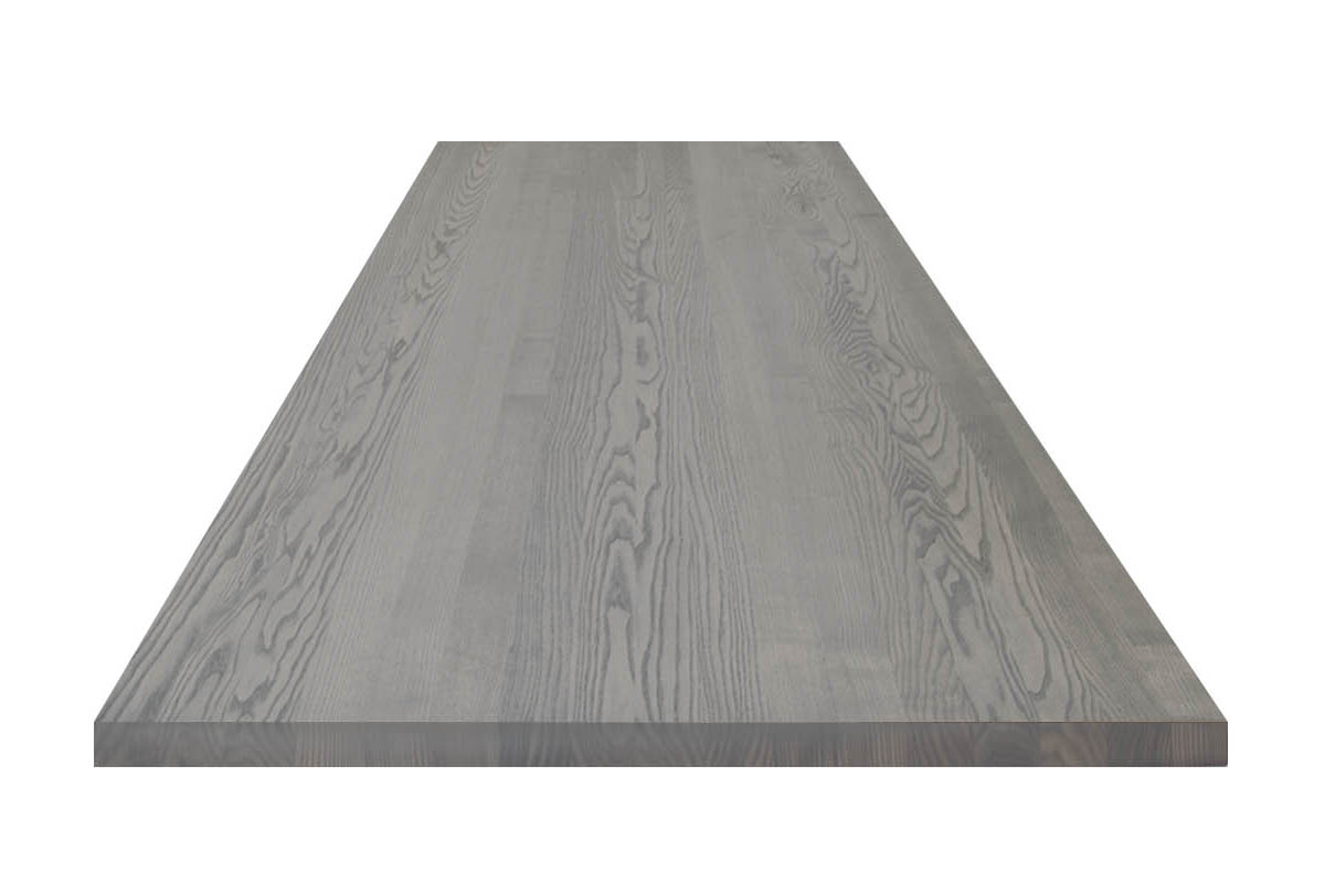 graue Esche Tischplatte aus Massivholz