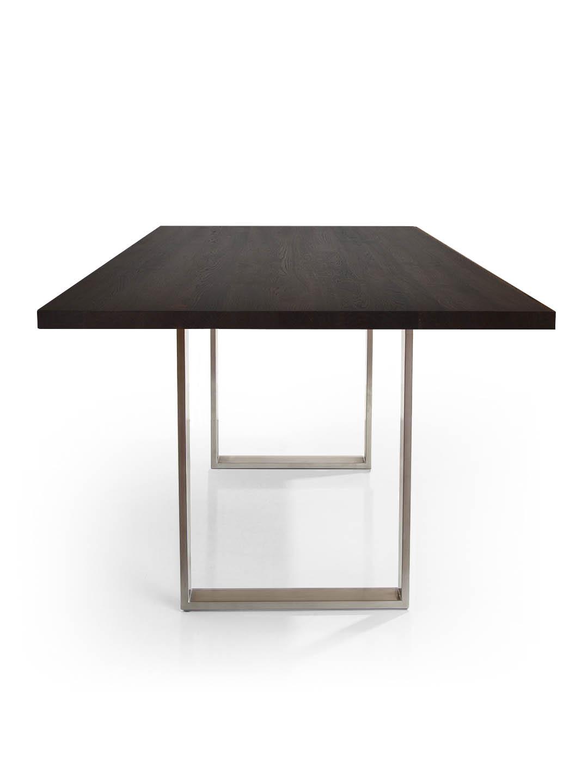 Massivholz Esstisch Edelstahlkufen Edelstahlkufen Tisch Grifo Mbzwo