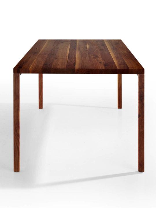 Tisch Layla in Nussbaum Ast mit Splint