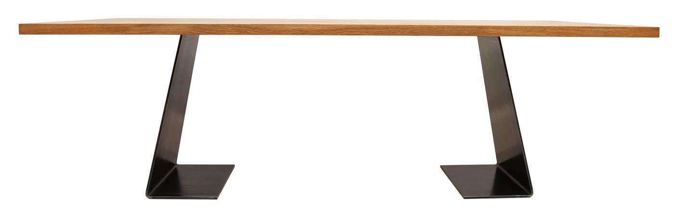 Esstisch Massivholz Stahl Im Profil