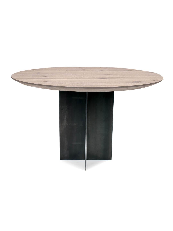 Esstisch rund massiv massivholz esszimmertisch rund for Tisch rund danish design