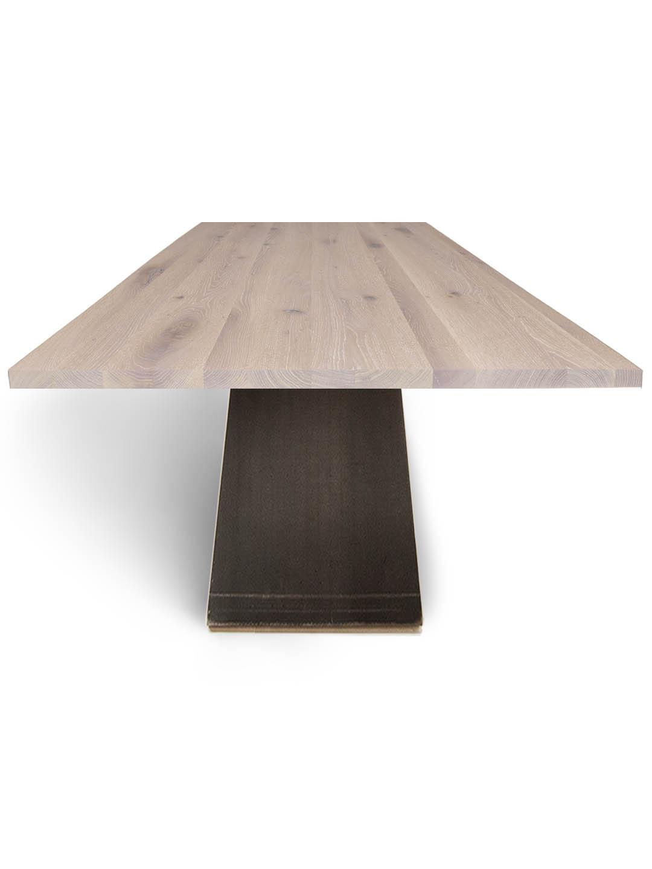Tisch ZSteel in Asteiche weiß geölt