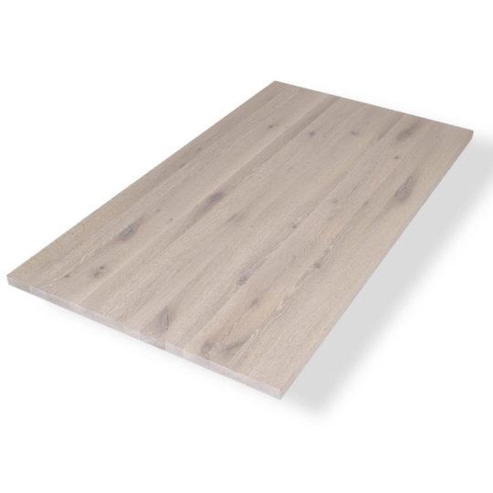 Asteiche Tischplatte weiss geölt