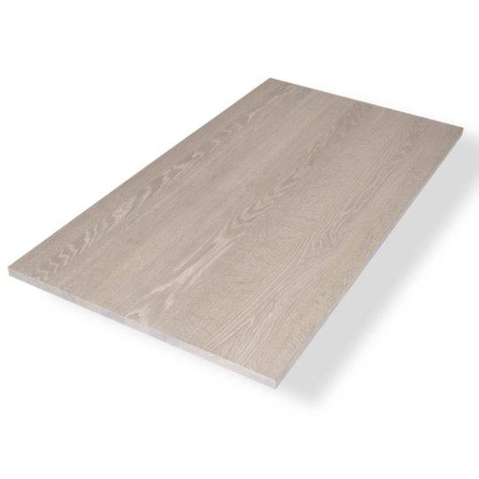 Eiche Tischplatte weiss geölt ohne Astanteil