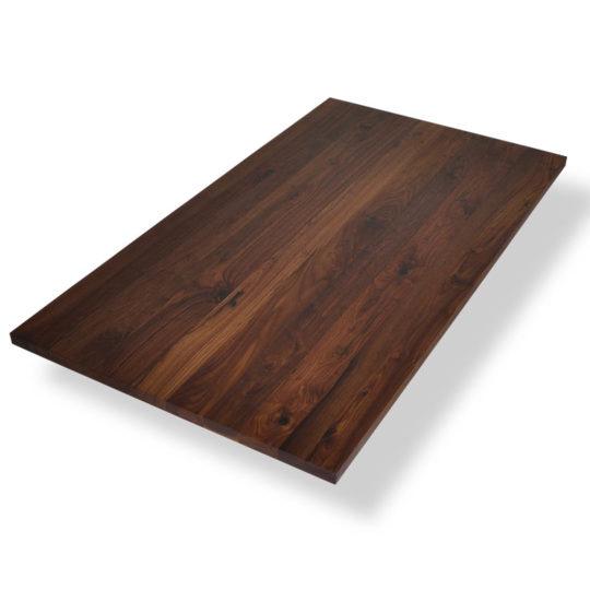 Nussbaum Tischplatte mit Astanteil