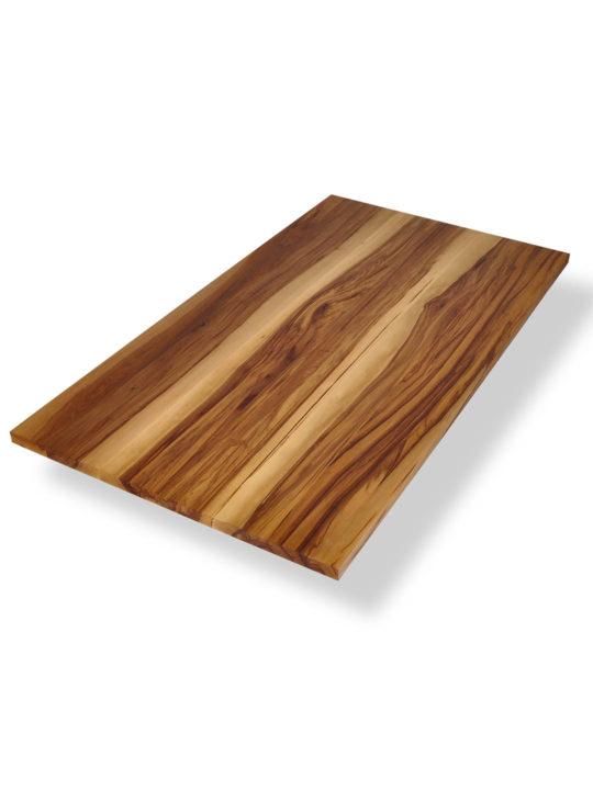 Tischplatte in Satin Nussbaum schräg dargestellt