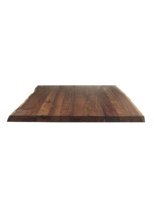 Nussbaum Tischplatte mit Baumkante in leichter Variante