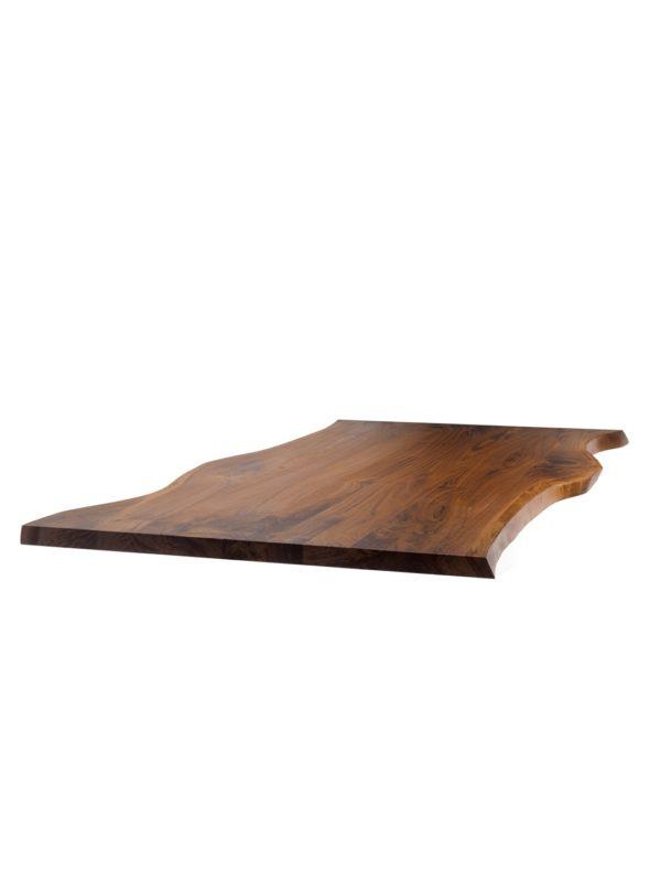 Nussbaum Tischplatte mit Baumkante in starker Ausführung
