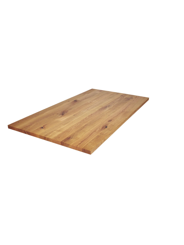 Massivholz Eiche Tischplatte mit Astanteil