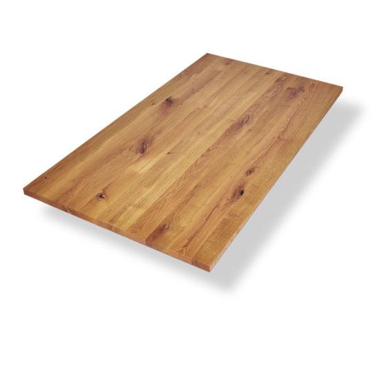 Wildeiche Tischplatte mit Astanteil