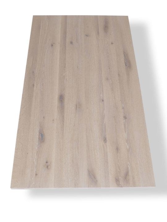 Tischplatte in Eiche weiß geölt