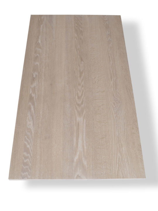 Eiche Tischplatte in Premium Qualität und weiß geölt