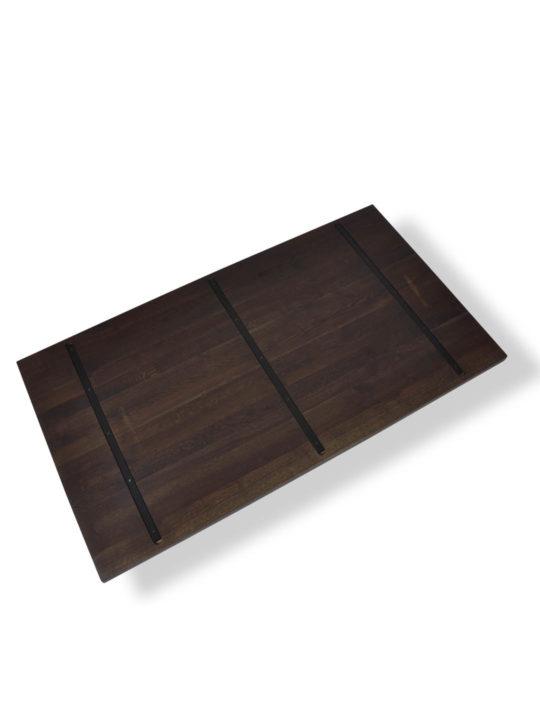 Geräucherte Eiche Tischplatte mit Stahlkernen