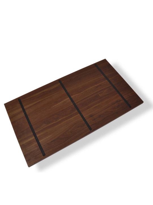 Nussbaum Tischplatte nach Maß mit Stahlkernen