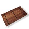 Nussbaum Tischplatte mit Stahlkernen von MBzwo