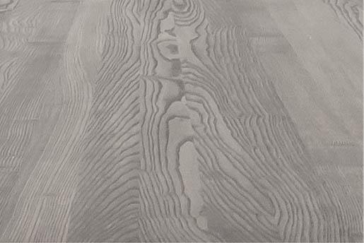 Detailaufnahme einer Esche Tischplatte in grau geölt