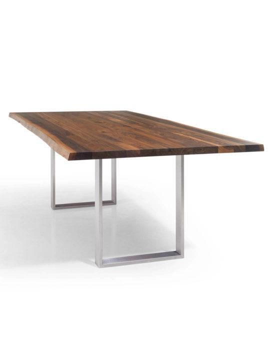 Esstisch nussbaum dunkel  Tischplatten mit Baumkante | Tischplatte Nussbaum Baumkante