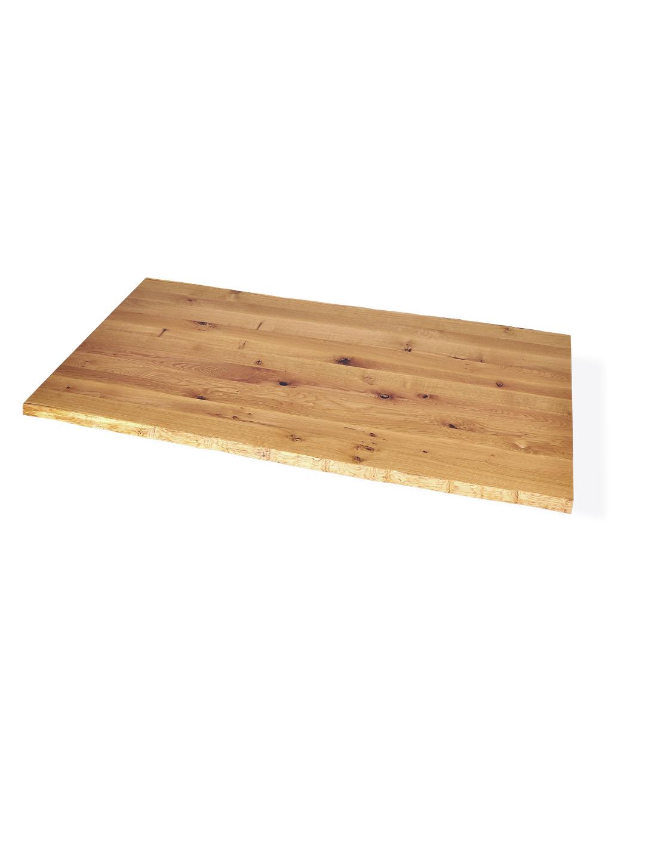 Asteiche Tischplatte mit natürlicher Baumkante
