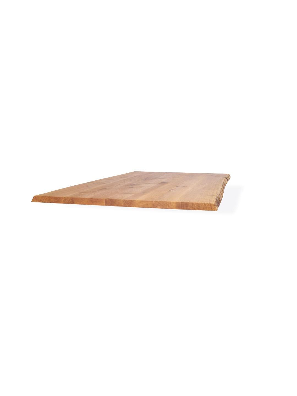 Asteiche Tischplatte mit Baumkante von MBzwo