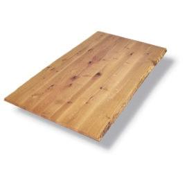 Tischplatte mit Baumkante in Wildeiche