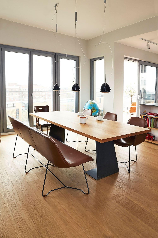 Designer Lederbank skandinavisch, Design Lederbänke, Lederbank Esstisch Lederbank, Leder Sitzbank Design, Leder Bank, Sitzbank Design