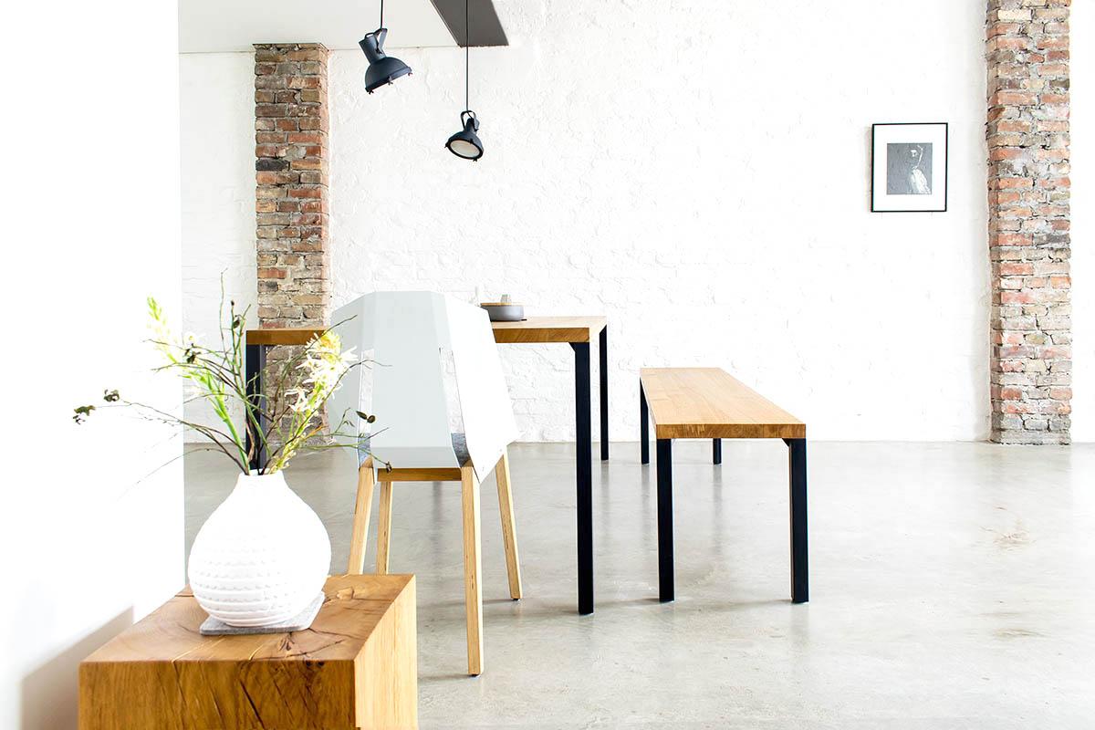 Design Esstisch aus Massivholz nach mass Lola in Eiche