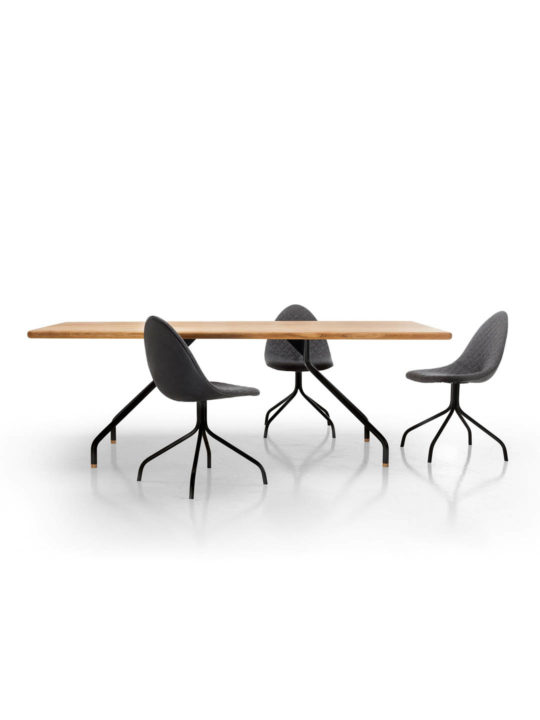 Designer Esstisch Massivholz, Massivholz Designer Esstisch filigran, Design Tisch filigran, Design Holztisch minimalistisch, MBzwo Designer Tisch Cone