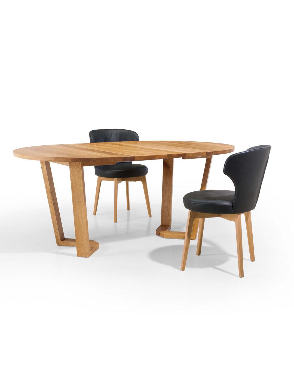 runder esstisch runder ausziehtisch massivholz. Black Bedroom Furniture Sets. Home Design Ideas