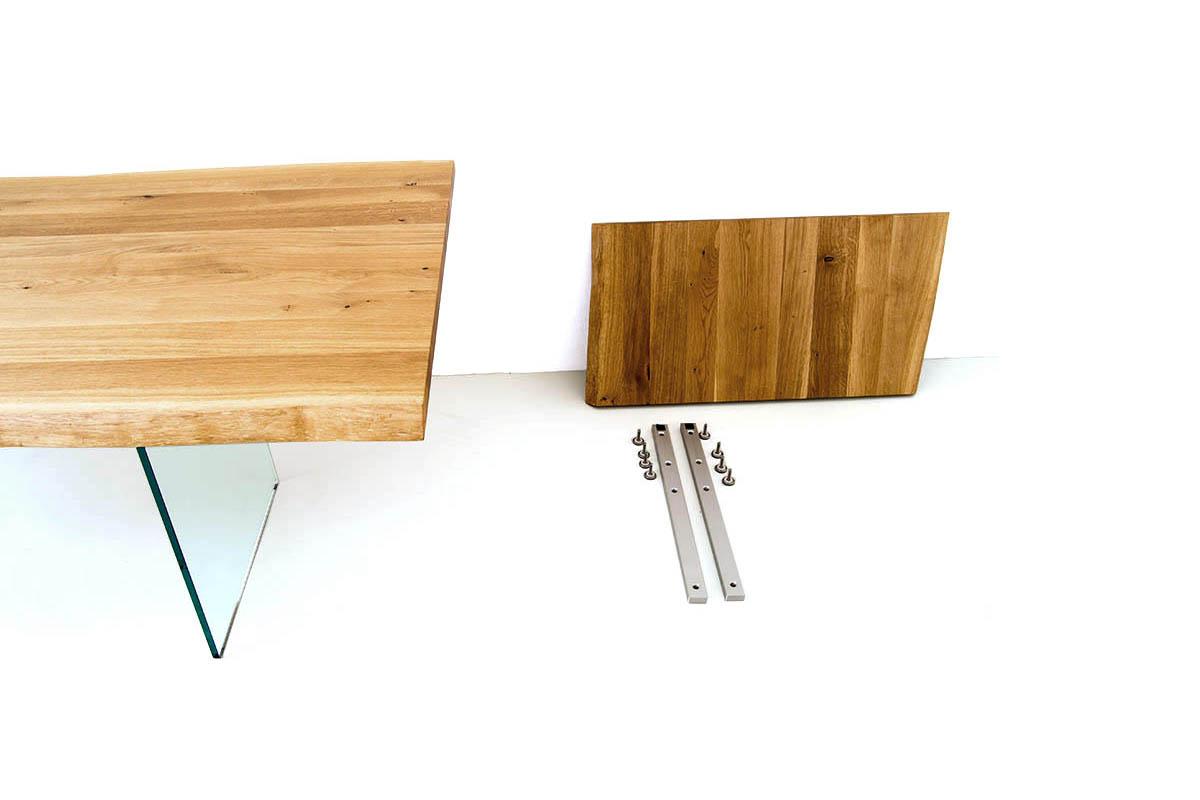 Ausziehtische nach Maß, Massivholz Ausziehtisch Ansteckplatte, Tisch verlängern Ansteckplatte, Ausziehtisch massiv