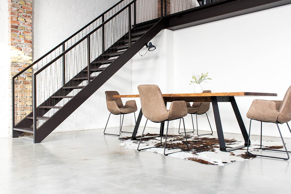 sitzmöbel, tonon, step chair, leder, tonon step, holztisch, massivholztisch, mbzwo, mb-zwo, stuhl, stühle, sessel