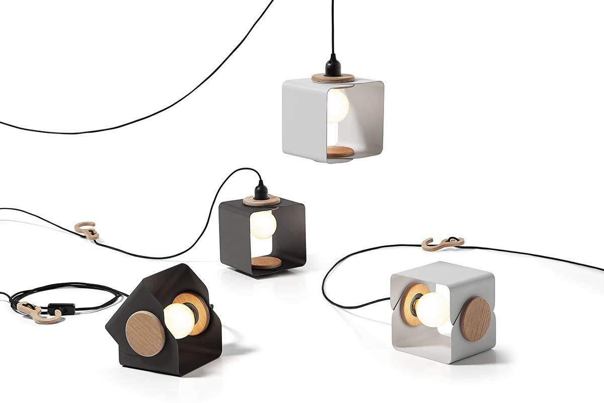 Designer Lampen Lampania von Tabanda hängend und stehende