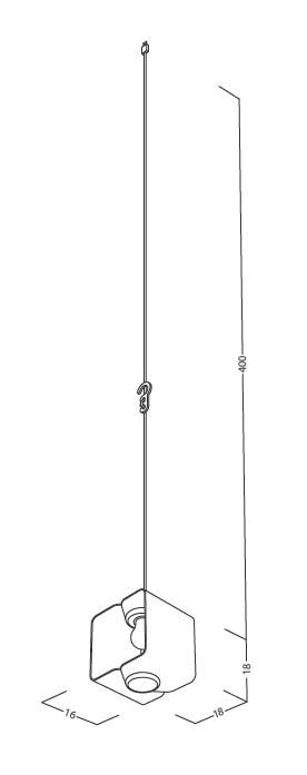 Skizze der Designer Lampe Lampania