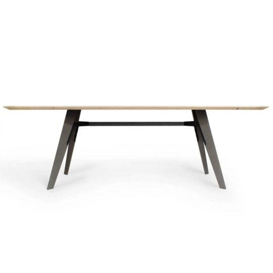 Tisch Marlin mit Schweizer Kante in Asteiche weiß geölt von MBzwo