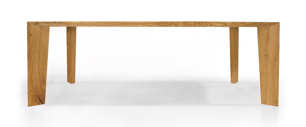 Profilansicht des Massivholztisch Bronco von MBzwo in Asteiche