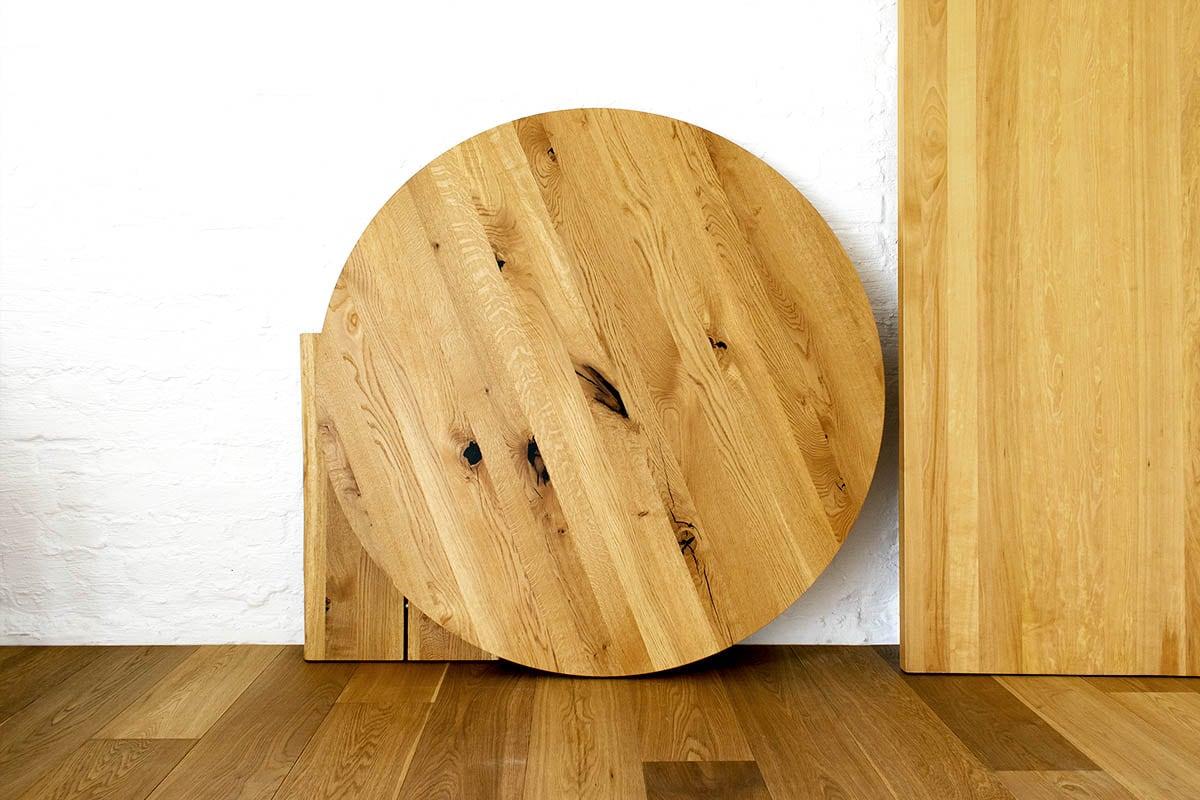 Tischplatten nach Maß aus Massivholz  Viele Formen und Größen