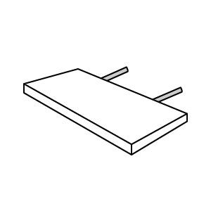 Eine Ansteckplatte
