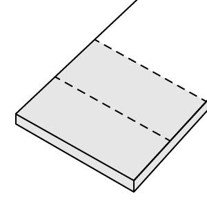 2 x 50 cm (geteilt)