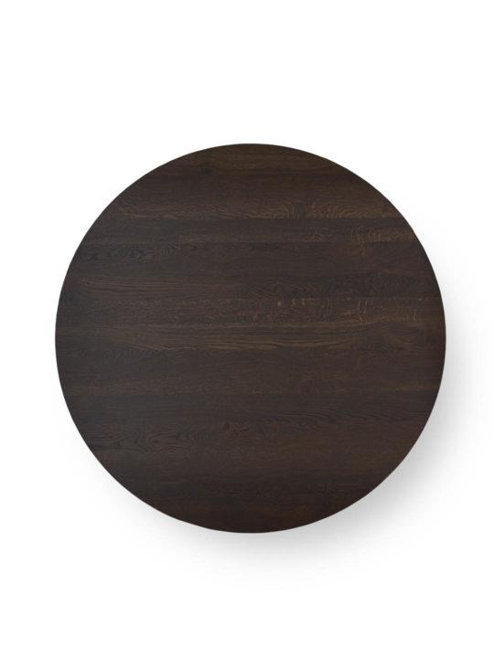 Runde Tischplatte nach Maß in Asteiche schwarz geräuchert von MBzwo