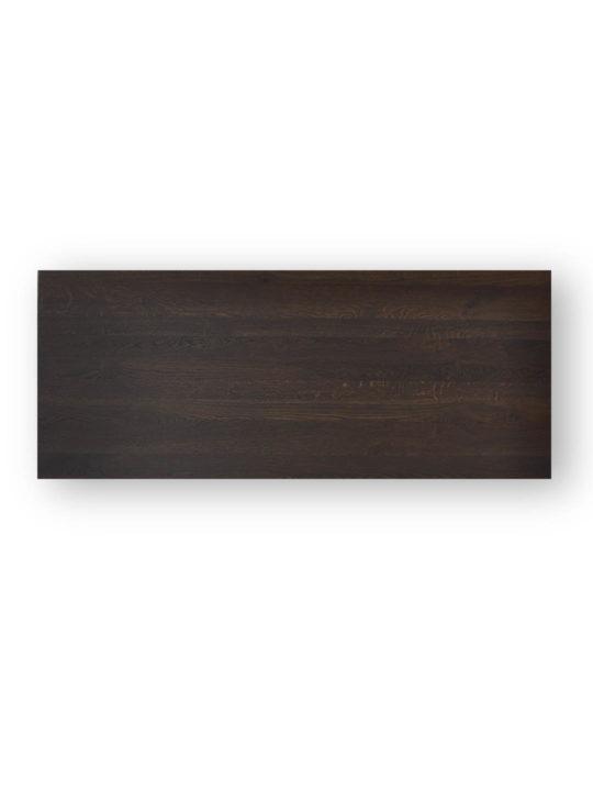 Tischplatten nach Maß Schweizer Kante in Asteiche schwarz geräuchert von MBzwo
