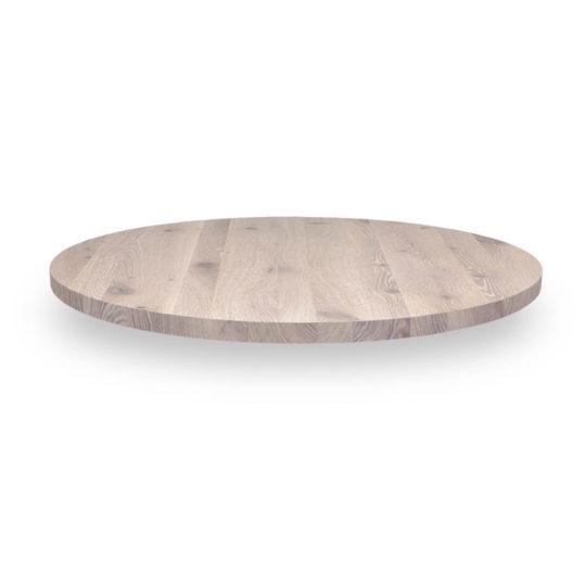 Runde Tischplatte nach Maß in Asteiche weiß geölt von MBzwo