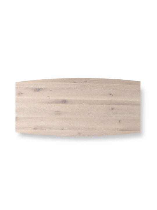 Tischplatte Bootsform Asteiche weiß geölt von MBzwo