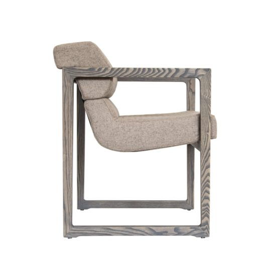 Designer Sessel NBLOGG blazer in Esche grau geölt