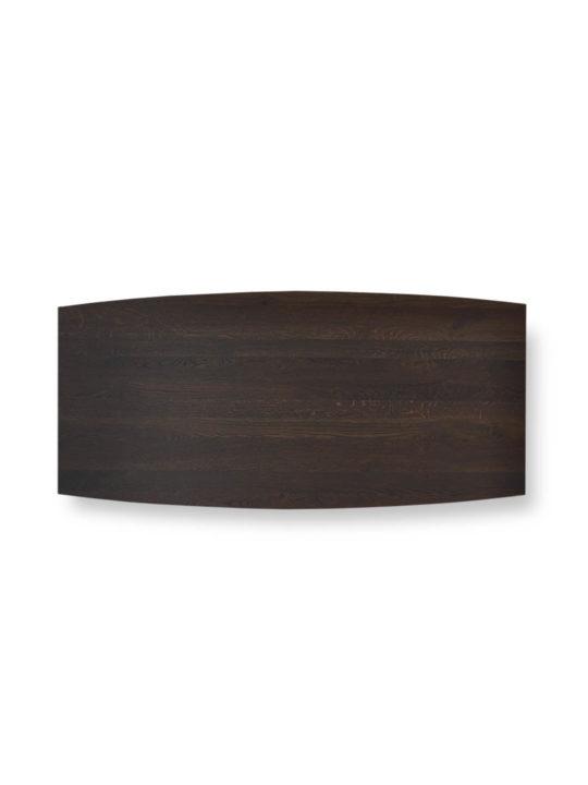 Tischplatte Bootsform Asteiche schwarz geräuchert von MBzwo