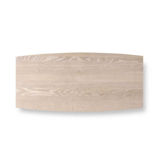 Tischplatte Bootsform Eiche weiß geölt von MBzwo