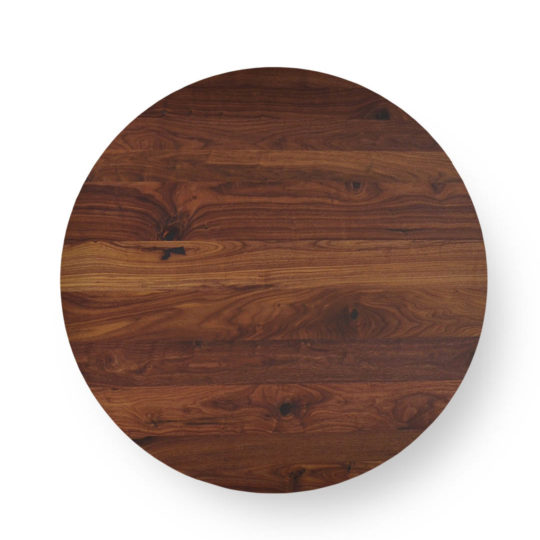 Runde Tischplatte nach Maß in Nussbaum Ast von MBzwo