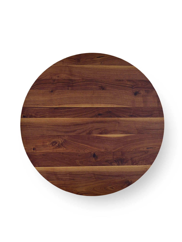 Tischplatten rund  Nussbaum Ast mit Splint