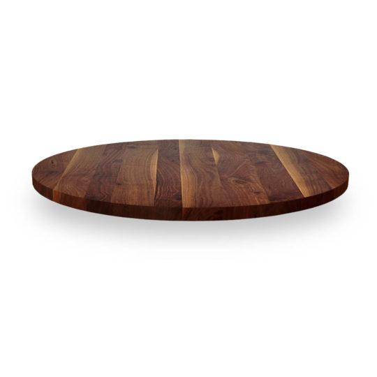 Runde Tischplatte nach Maß in Nussbaum Ast mit Splint von MBzwo