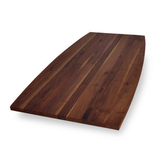Tischplatte Bootsform Nussbaum Ast mit Splint von MBzwo