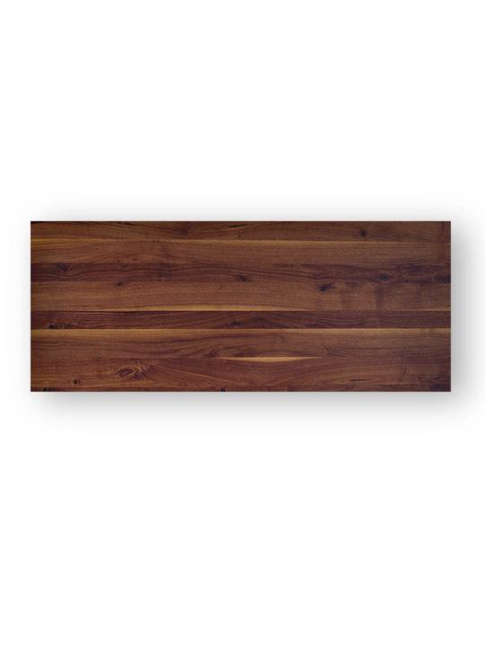 Tischplatten nach Maß Schweizer Kante in Nussbaum Ast mit Splint von MBzwo